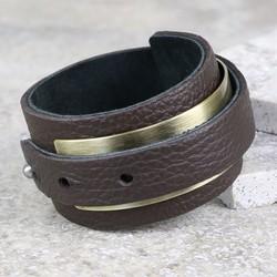Men's Wrapped Leather Cuff Bracelet