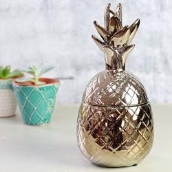 Temerity Jones Metallic Gold Pineapple Trinket Pot