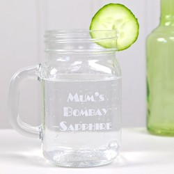 Personalised Engraved Glass Mason Jar