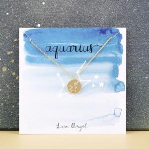 Gold Aquarius Constellation Necklace