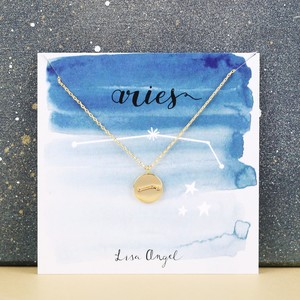 Gold Aries Constellation Necklace