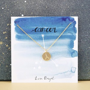 Gold Cancer Constellation Necklace