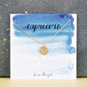 Gold Capricorn Constellation Necklace