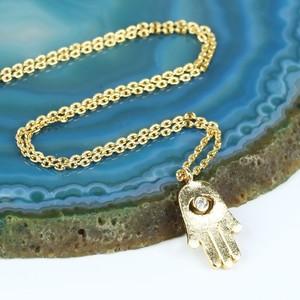 Gold Hamsa Hand Necklace