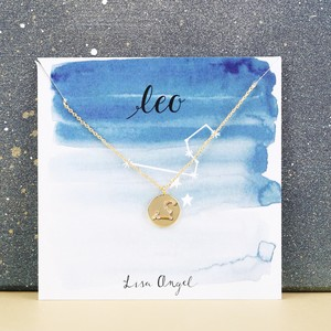 Gold Leo Constellation Necklace