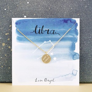 Gold Libra Constellation Necklace