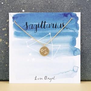 Gold Sagittarius Constellation Necklace