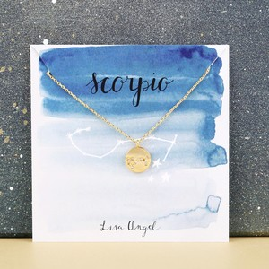 Gold Scorpio Constellation Necklace
