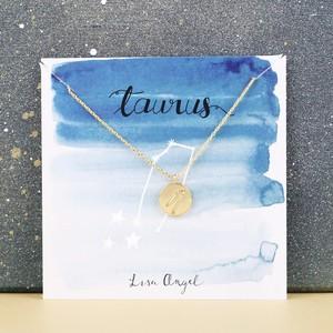 Gold Taurus Constellation Necklace
