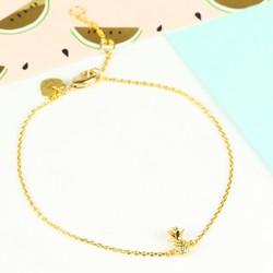 Tiny Delicate Gold Pineapple Bracelet