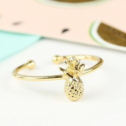 Tiny Delicate Gold Pineapple Ring