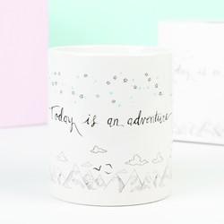 'Adventure' Quote Mug