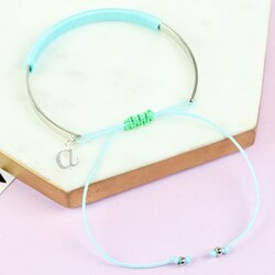 Children's Curved Bangle with Initial