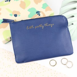 Busy B 'Little Pretty Things' Navy Pouch