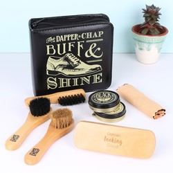 Personalised Dapper Chap Shoe Buff & Shine Kit