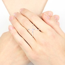 Sterling Silver Geometric Crossover Ring