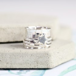 Sterling Silver Stars Spinning Ring