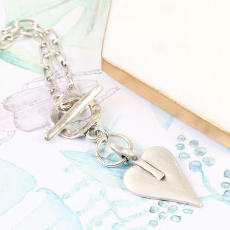 Danon Silver Necklace with Signature Heart