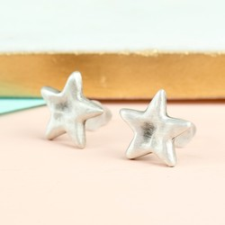 Danon Silver Star Stud Earrings