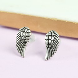 Danon Silver Wing Stud Earrings