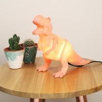 Disaster Designs Orange Origami T-Rex Dinosaur Night Light