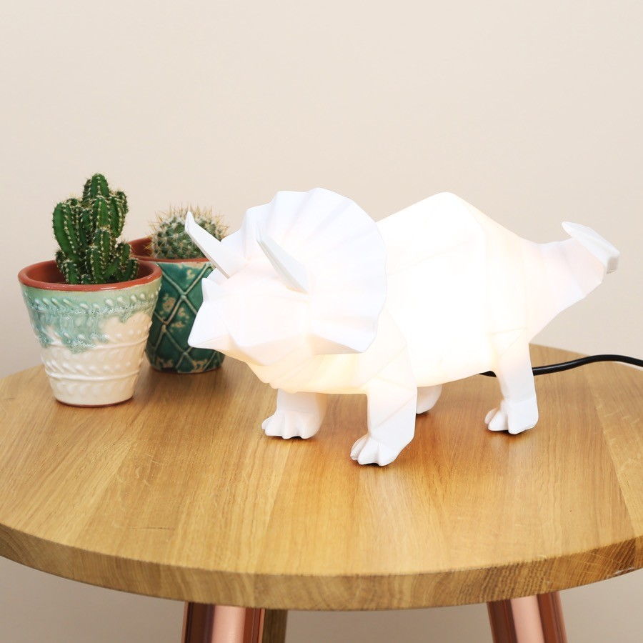 Disaster Designs White Triceratops Night Light Lisa Angel