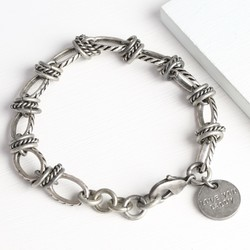 Men's Personalised Twisted Chain Bracelet