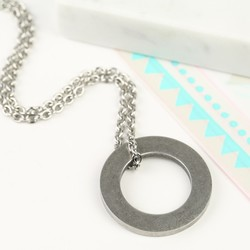 Men's Stainless Steel Circle Necklace