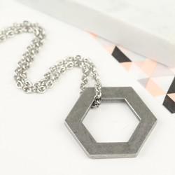 Men's Stainless Steel Hexagonal Necklace