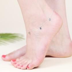 Sterling Silver Leaf Anklet