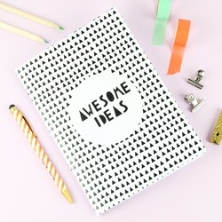 'Awesome Ideas' A5 Notebook