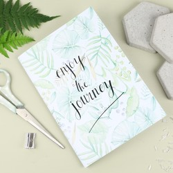'Enjoy The Journey' Botanical A5 Notebook