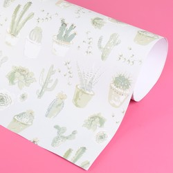Cactus Print Wrapping Paper