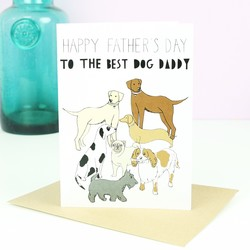 Dog Daddy Father's Day Card