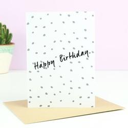 'Happy Birthday' Polka Dot Card