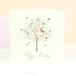 Five Dollar Shake Butterfly Tree Birthday Card