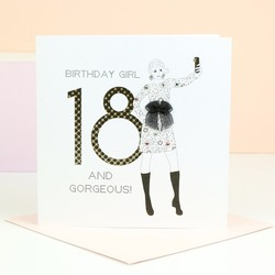 Five Dollar Shake '18 and Gorgeous' Birthday Card
