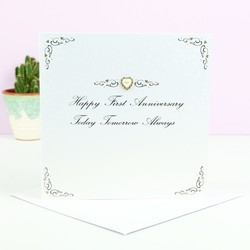 Five Dollar Shake 'Happy First Anniversary' Card