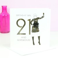 Five Dollar Shake '21 and Gorgeous' Birthday Card