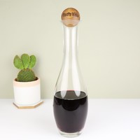 Slim Wine Carafe with Personalised Oak Stopper