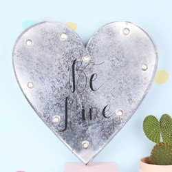 'Be Mine' Industrial Heart with LED Lights
