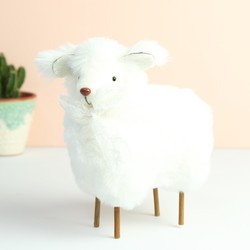Fluffy Easter Lamb Ornament