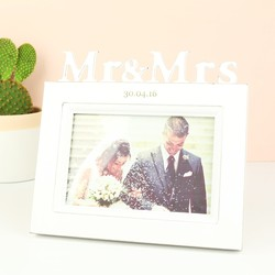 Personalised Mr and Mrs White Wooden Frame