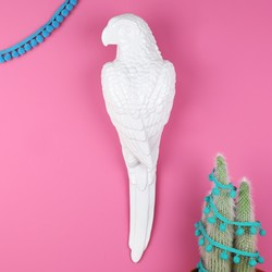White Ceramic Parrot Wall Ornament