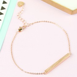 Horizontal Bar Bracelet In Rose Gold