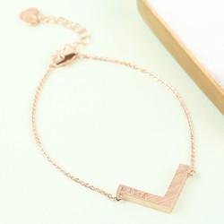 Personalised Rose Gold Chevron Bracelet