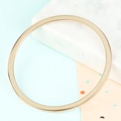Stainless Steel Bangle In Rose Gold