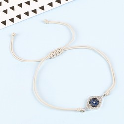 Sterling Silver Eye Cord Bracelet