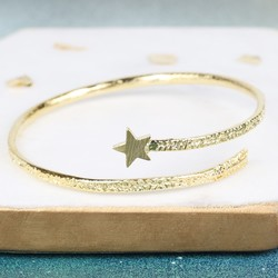 Textured Gold Star Bangle