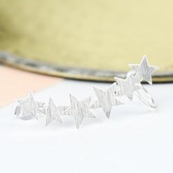 Single Silver Star Ear Cuff